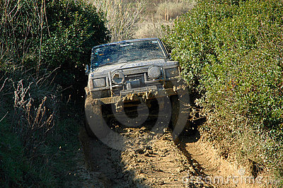 Raid 4X4 adventure race Editorial Stock Photo