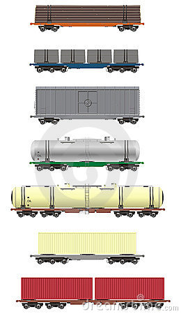 Free Rail Cargo Cars Royalty Free Stock Photos - 8586278