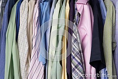 Rail of men s shirts