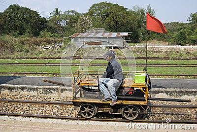 Rail Repair truck Editorial Photo