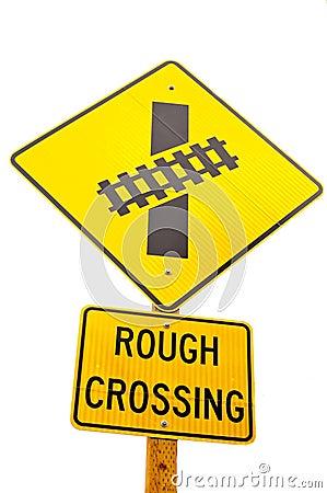 Rail Road Sign - Rough Crossing