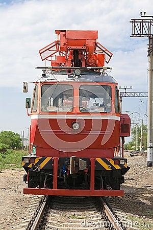 Rail service vehicle