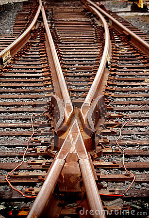 Free Rail Switch, Juntion Or Merger Royalty Free Stock Photo - 3660085