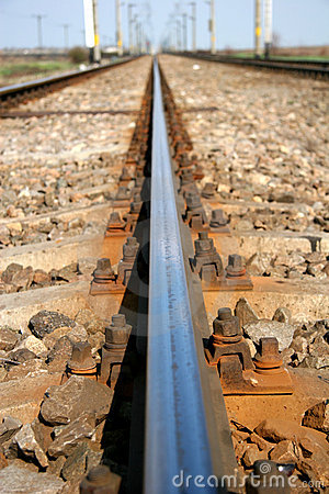 Free Rail Track Macro Royalty Free Stock Photos - 660738
