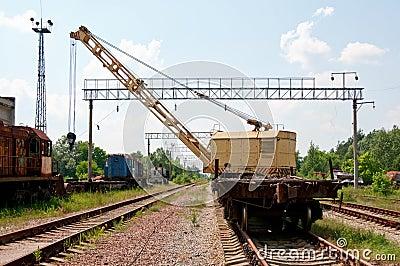 A Rail Track Mounted Crane.