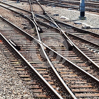 Free Rail Tracks And Switches Stock Photo - 31748250