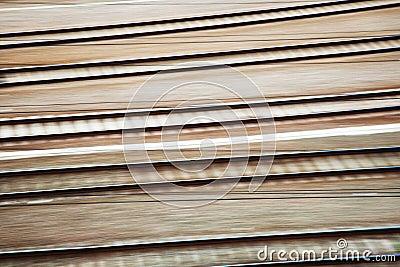 Rail tracks in motion blur
