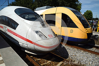 Rail transport in the Netherlands Editorial Stock Photo