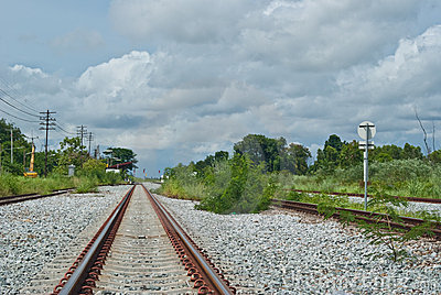 Rail way go to the town
