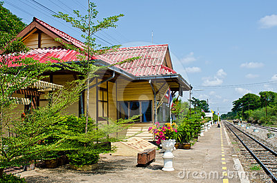 Rail way station at Sakreo province