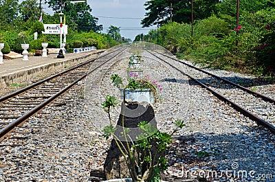 Rail way station at Sakreo province