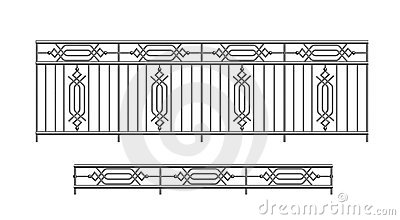 Railing parapet metal for exterior