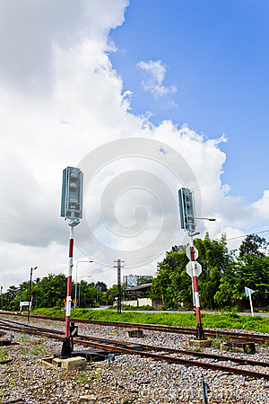 Railroad with Alarm Lights