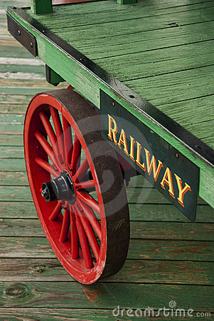 Railroad baggage cart