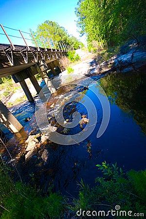 Railroad Bridge over a Creek