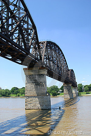 Free Railroad Bridge Over Ohio River 1 Royalty Free Stock Images - 141409