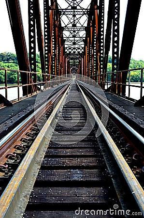 Free Railroad Bridge Perspective Stock Photography - 33343642