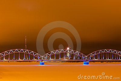 Railroad bridge in Riga