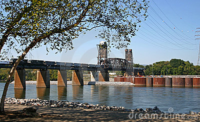 Railroad Bridge & Train