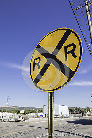 Free Railroad Crossing Sign Stock Image - 98275301
