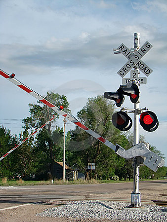 Free Railroad Crossing Signal Stock Photography - 5286322