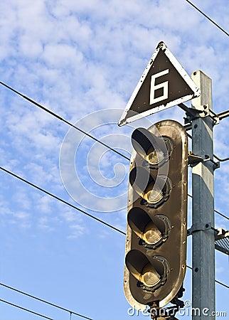 Railroad crossing traffic light