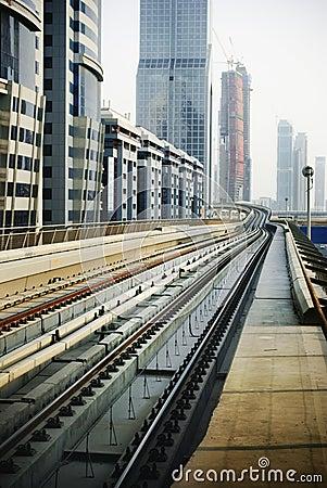 Railroad in Dubai