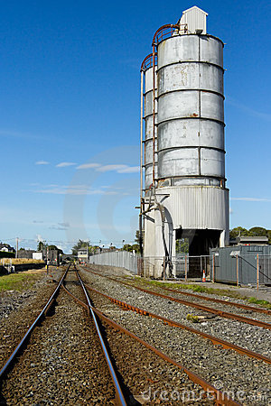Railroad and fuel tanks