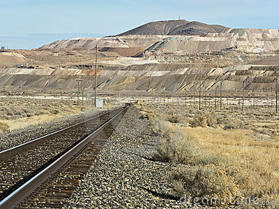 Railroad leads to the mine at Sulphur, Nevada