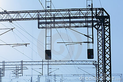 Railroad powerlines