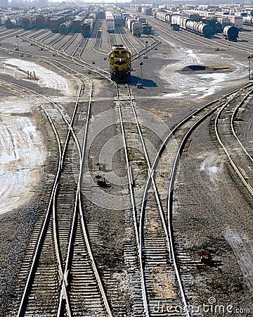 Railroad switch yard