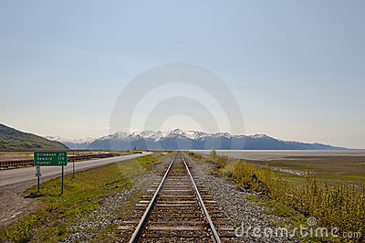 Railroad to mountains