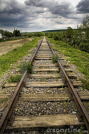Free Railroad Track Royalty Free Stock Photography - 9461797