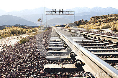 Railroad track in the Desert
