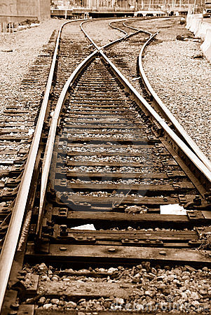 Free Railroad Tracks Royalty Free Stock Image - 4856406