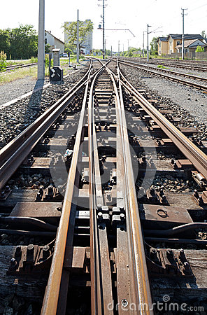 Free Railroad Tracks And Switches Stock Photo - 24749660