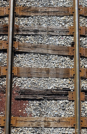 Free Railroad Tracks From Above Stock Images - 1545144