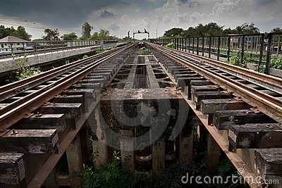 Railroad tracks parallel