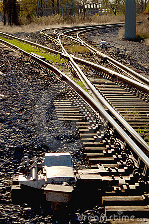 Railroad tracks and switches