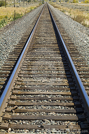 Railroad tracks west
