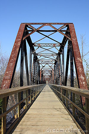 Free Railroad Trestle Converted To Trail Royalty Free Stock Photography - 12421217