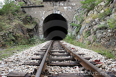 Railroad and tunnel