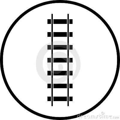 railroad vector symbol