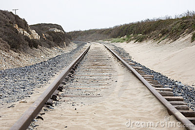 Rails in the dunes