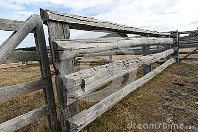 Rails And Gates Old Cattle Yards Royalty Free Stock Photo ...