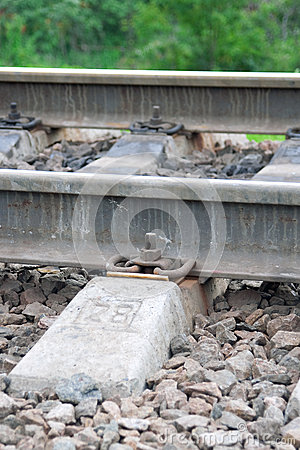 The rails and sleepers