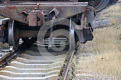 Railway with aged train