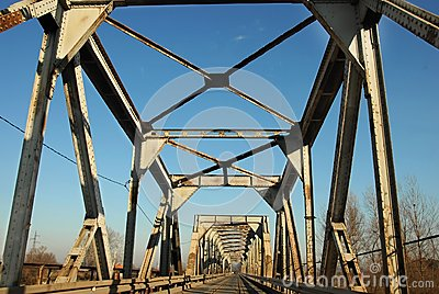 Railway and automobile bridge