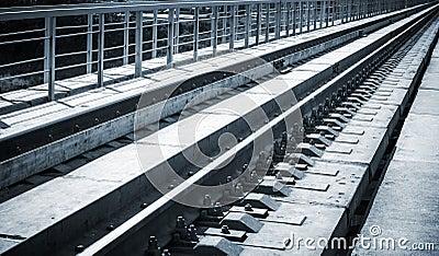 Railway bridge details closeup photo