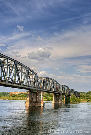 Railway bridge over the river olt, Romania